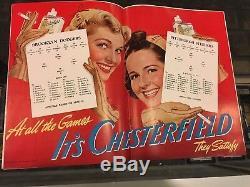 1942 Pittsburgh Steelers Vs. Brooklyn Dodgers Betty Brown Ice-capades Vg