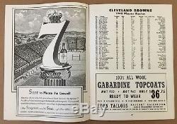 1948 Aafc Championship Football Program Buffalo Bills @ Cleveland Browns (15-0)