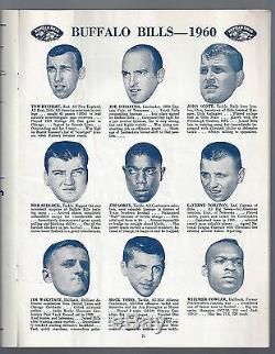 1960 Afl NFL Boston Patriots @ Buffalo Bills Football Program @ War Memorial