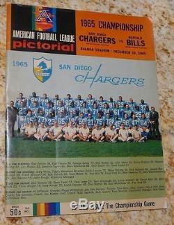 1965 Afl Championship Program Very Good Charges Bills