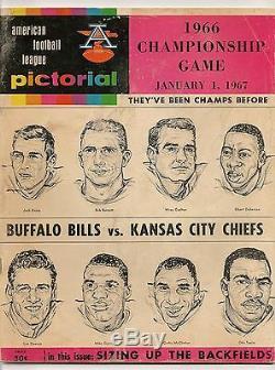 1966 Buffalo Bills-Chiefs AFL Championship Program Chiefs Earn Trip to SB1