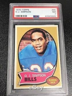 1970 TOPPS OJ SIMPSON ROOKIE #90 PSA 7 NFL RC Vintage