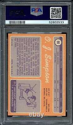 1970 Topps #90 O. J. Simpson Psa 8 (rc) Bills Hof Adt4486