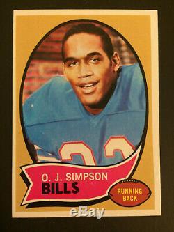 1970 Topps #90 O. J. Simpson RC Buffalo Bills Football Rookie Card EXMT/NM