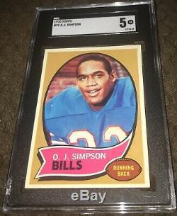 1970 Topps #90 OJ SIMPSON SGC 5 EX Rookie NFL HOF SHOULD OF GRADED HIGHER