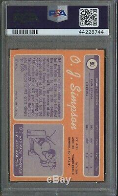 1970 Topps Football #90 O. J. Simpson Buffalo Bills RC Rookie HOF PSA 7 NM