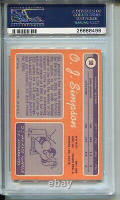 1970 Topps Football #90 O. J. Simpson Rookie Card RC Graded PSA NM MINT 8 Bills