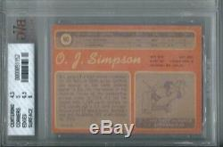 1970 Topps Football #90 O. J. Simpson Rookie RC BGS BVG 5 EXCELLENT BUFFALO BILLS