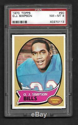 1970 Topps Football O. J. Simpson #90 Buffalo Bills PSA 8 NM-MT (Rookie)