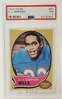 1970 Topps O J OJ Simpson #90 RC Rookie Card Graded PSA 7