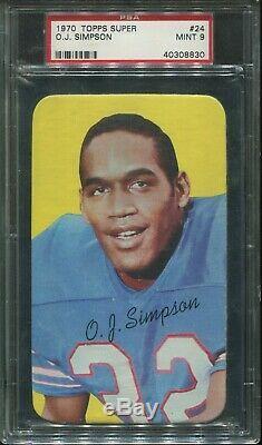 1970 Topps Super #24 O. J. Simpson Rookie psa 9 Mint HOF