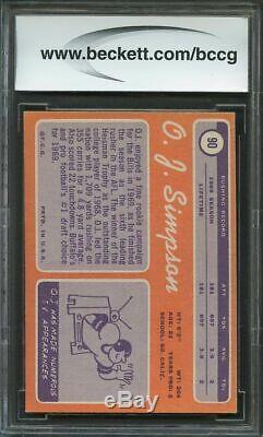 1970 topps #90 O. J. SIMPSON buffalo bills rookie card BGS BCCG 9