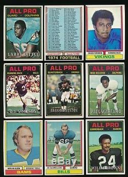 1974 Topps Football Starter Set 486 / 528 Ex To Nmmt With Hof + Stars