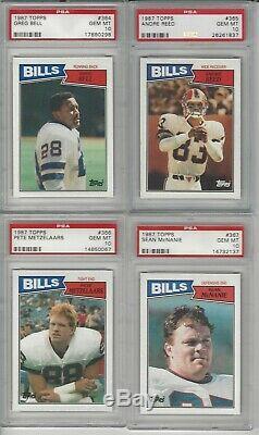 1987 Topps Buffalo Bills Graded Team Set #2 Psa Set Registry 10.79