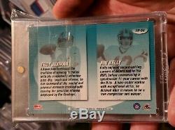 2000 Donruss Preferred Jim Kelly Troy Aikman Pen Pals Dual Auto Hof ssp