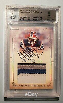 2007 National Treasures Marshawn Lynch Rc Jersey Auto Bgs 9 with10 Read #/99