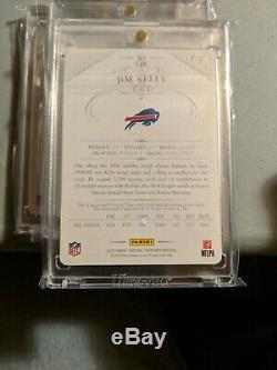 2014 National Treasures Jim Kelly 1/1 Printing Plate Auto rainbow x4 Bills Hof