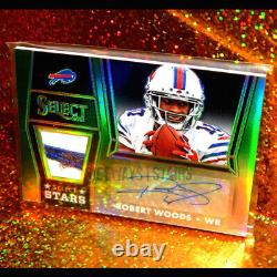 2014 ROBERT WOODS AUTO JERSEY PATCH /5 Select Stars rare refractor relic as-rw