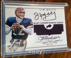 2015 Jim Kelly Panini Flawless Benchmarks SP HOF On-Card Autograph #'d 5/20