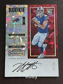 2017 Panini Contenders NATHAN PETERMAN CRACKED ICE Ticket RC on card Auto /25