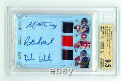 2017 Patrick Mahomes Rookie Auto Patch RPA BGS 9.5 10 #/10 RC Watson Trubisky