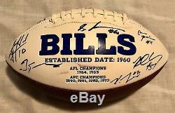 2018 Buffalo Bills Team Signed Logo Football Mccarron Lawson Mcdermitt
