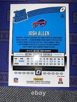 2018 Donruss Optic Josh Allen Holo #154 Rookie Card