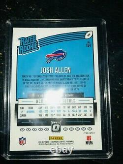 2018 Donruss Optic Josh Allen Holo Prizm Rated Rookie #154 Bills NFL MVP 2021$$