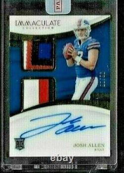 2018 Immaculate Josh Allen Auto Dual 4 Color Jersey Patch Rc Serial # 56/99