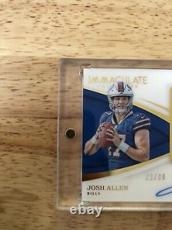 2018 Immaculate Josh Allen RPA RC Rookie Card 4-Color Patch AUTO Sharp Corners