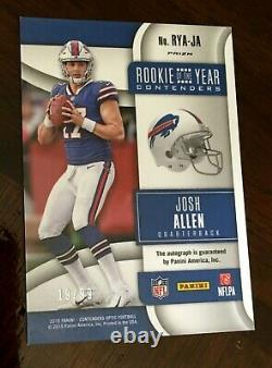2018 JOSH ALLEN Contenders Optic Rookie of the Year /99 Auto RED Buffalo Bills