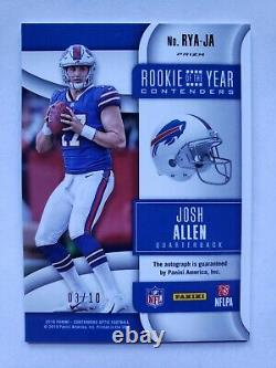 2018 JOSH ALLEN Panini Contenders Optic Rookie of the Year /10 Auto Gold RC Card