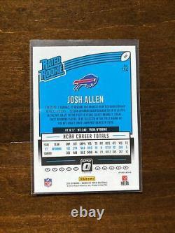 2018 Josh Allen Donruss Optic Silver Holo Prizm Rated Rookie RC #154 Buffalo