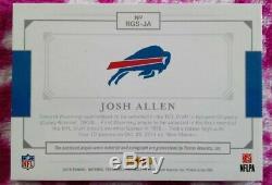 2018 Josh Allen National Treasures Rookie 3 color Patch Autograph 1/1