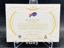 2018 Josh Allen Panini Flawless Rookie 4 Color Patch /15