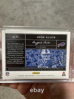 2018 Josh Allen Panini One Rookie Autograph Patch RC #49/49 Bills Auto Sealed