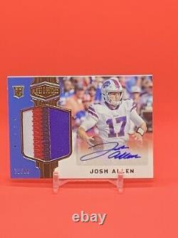 2018 Josh Allen Panini Plates & Patches Rookie Card 71/99 MVP Buffalo Bills