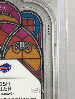 2018 Josh Allen Panini Prizm Silver Stained Glass Ssp Case Hit Bills Psa 10