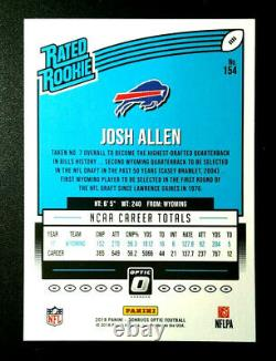 2018 Josh Allen Rated Rookie Optic Donruss RC #154 Card Flawless