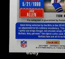 2018 Josh Allen Rookie Auto Ticket Contenders 105 Rare Autograph No Feet Visible