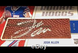 2018 Josh Allen Rookie Hoggs Panini Instant On Football Auto 08/10 Silver Ink Rc