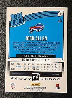 2018 Josh Allen Rookie Rated Press Proof Black 05/10 Buffalo Bills