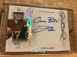 2018 Leaf Trinity Silver Spectrum Rookie Autograph Josh Allen Go Bills Auto /5