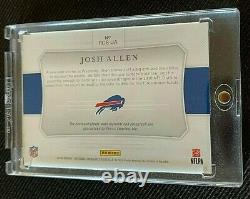 2018 National Treasures Bills Josh Allen RC Colossal On Card Patch Auto RPA /99