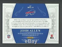2018 National Treasures Josh Allen Bills RPA RC NFL Shield Logo Patch AUTO 1/1