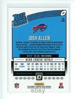 2018 Optic JOSH ALLEN #154 Rookie RC Buffalo Bills