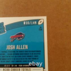 2018 Optic Josh Allen DARK BLUE Rated Rookie Prizm. Serial # 018/149. GRADEABLE