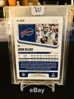 2018 Panini Honors Score Josh Allen Rookie Auto #6/9 Buffalo Bills