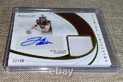 2018 Panini Immaculate, Josh Allen /49 Autographed Rookie Patch Auto On-Card RC