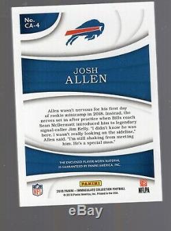 2018 Panini Immaculate Josh Allen NFL Shield Caps Tags RC #3/3 Bills